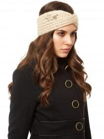 Jane Norman Beige Embellished Headwarmer