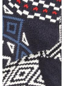 Mens Navy 2pk Fair Isle Socks