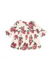 Baby Girls Rose Print Dress