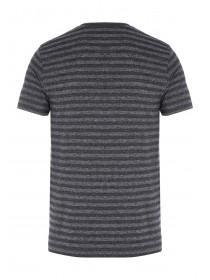 Mens Short Sleeve Textured Stripe T-Shirt