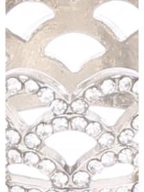 Womens Silver Diamante Ring