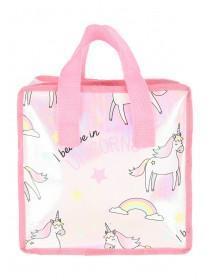 Womens Pink Unicorn Lunch Bag