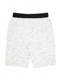 Older Boys White Space Dyed Panel Shorts