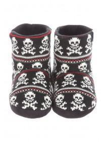 Older Boys Skull Patterned Sipper Boot