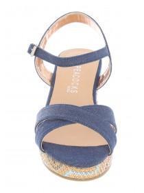 Older Girls Blue Covered Sandals