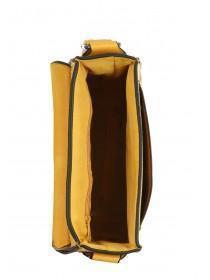 Womens Mustard Whipstitch Saddle Bag