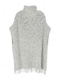 Older Girls Fringe Hem Poncho