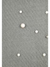 Womens Grey Pearl Scarf