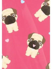 Womens Pink Pug Print Phone Case