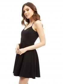 Jane Norman Black Strappy Skater Dress