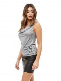 Jane Norman Silver Chain Back Top