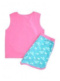 Older Girls Hot Pink Pyjama Top & Shorts