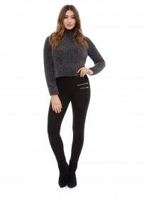 Jane Norman Black High Waist Ponte Leggings