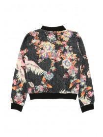 Older Girls Black Sequin Floral Bomber Jacket