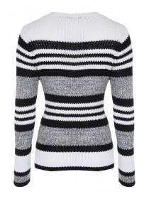 Womens Striped Twisted Jumper