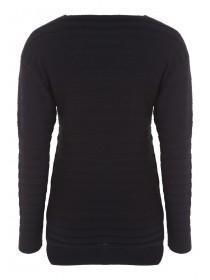 Womens Wide Rib Zip Side Jumper