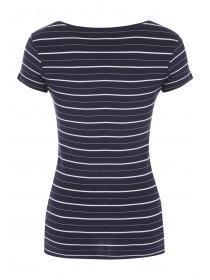 Womens Blue Stripe T-Shirt