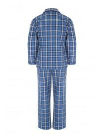 Mens  Long Sleeve Check Pyjama Set