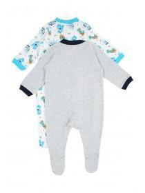 Baby Boy 2PK Hanging Dino Sleepsuit