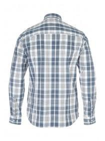 Mens Cream Long Sleeve Check Shirt