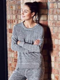 Womens Space Dye Zip Sweater