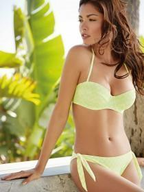 Womens Lime Side Tie Bikini Brief