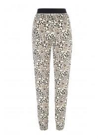 Womens Cream Leopard Pyjama Bottoms