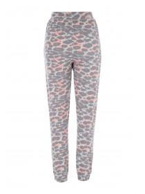 Womens Grey Leopard Pyjama Bottoms