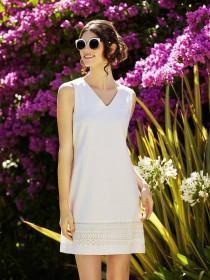 Womens White Linen Dress