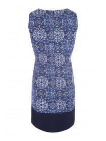 Womens Dark Blue Linen Dress