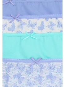 Womens 4pk High Cut Briefs