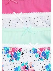 Womens 4PK Pink Hi-Cut Briefs