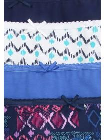 Womens 4PK Mini Print Briefs