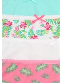 Womens 4PK Tropical Print Mini Briefs