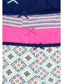 Womens 4PK Aztec Shorts