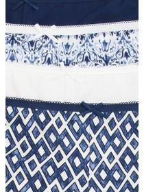 Womens 4PK Blue Geo Shorts
