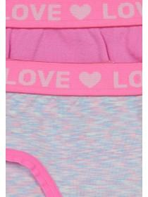 Girls 2PK Pink Seamfree Briefs