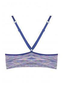 Girls Dark Blue Seamfree Crop Top