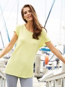 Womens Lime Curved Hem T-Shirt