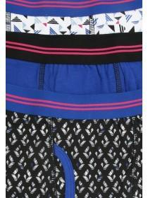 Older Boys 3PK Mid Blue Trunks