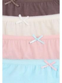 Womens 4 PK Full Cotton Briefs