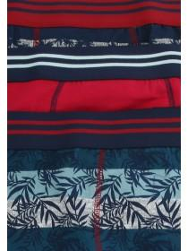 Mens 3PK Red Stretch Hipsters