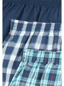 Mens 3PK Navy Woven Boxers