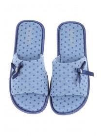 Womens Light Blue Spa Slipper