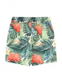 Younger Boys Fluorescent Tropical Swim Shorts