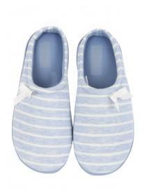 Womens Striped Comfort Support Slipper
