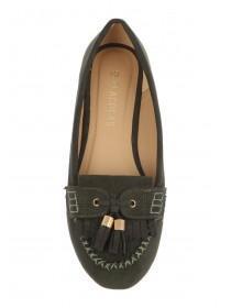 Womens Khaki Loafer Shoe