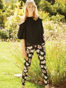 Womens Poppy Cotton Sateen Trousers