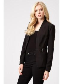 Jane Norman Black PU Trim Zip Jacket