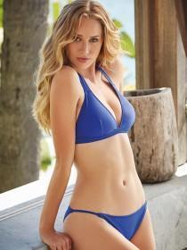 Womens Mid-Blue Tanga Bikini Brief